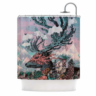 Journeying Spirit (Deer) Fantasy Shower Curtain