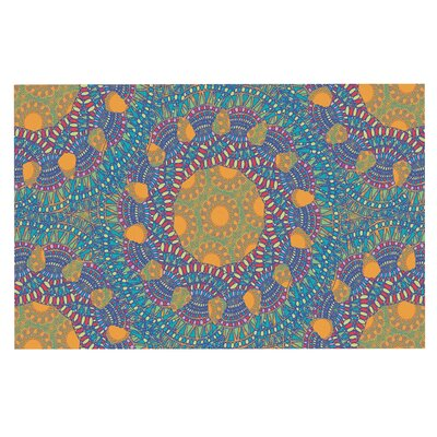 Prismatic Doormat Color: Orange/Blue