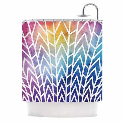 Shattering Shower Curtain Color: Blue