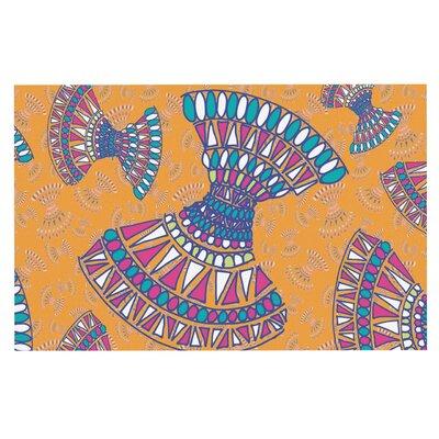 Tribal Fun Gerine Decorative Doormat Color: Orange