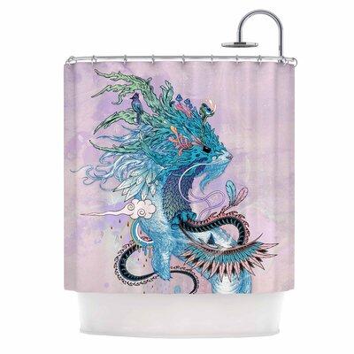 Journeying Spirit (Ermine) Fantasy Shower Curtain