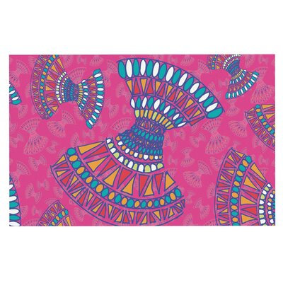 Tribal Fun Gerine Decorative Doormat Color: Pink/Magenta