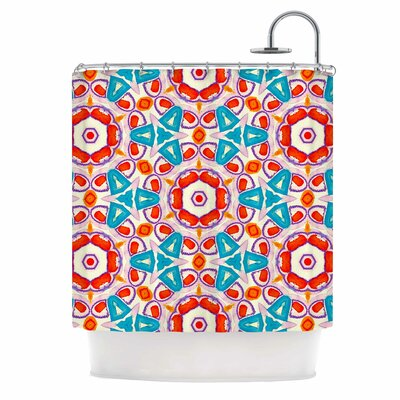 Kaleidoscopic Circles Shower Curtain