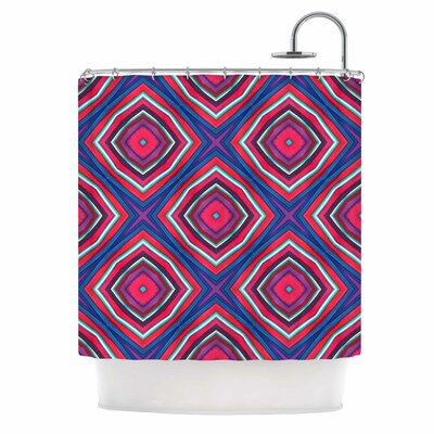 Watercolor Diamonds Rose Diamond Shower Curtain