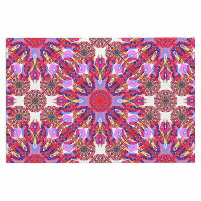 Kaleidoscopic Floral Doormat