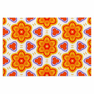 Kaleidoscopic Flowers Doormat
