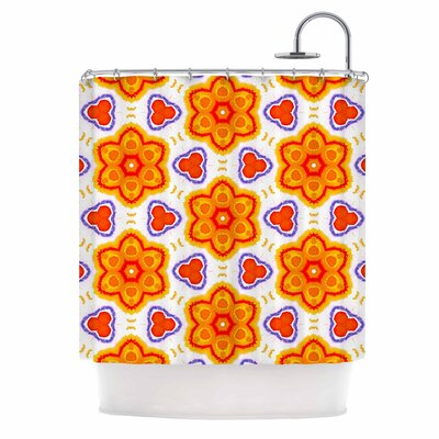 Kaleidoscopic Flowers Shower Curtain