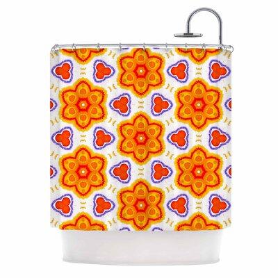 Kaleidoscopic Flowers Shower Curtain