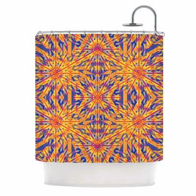 Azulejo Orange Shower Curtain
