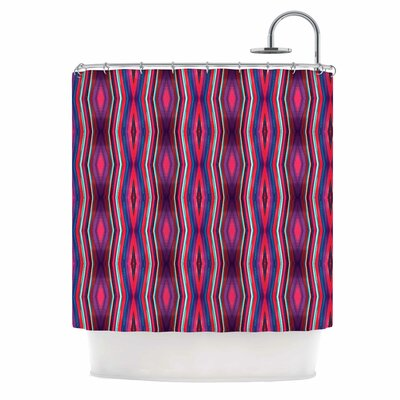Watercolor Zigzag Shower Curtain