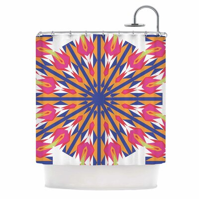 Modern Dutch Tulips Shower Curtain