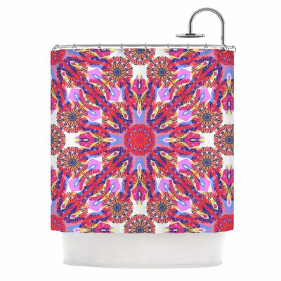 Kaleidoscopic Floral Shower Curtain