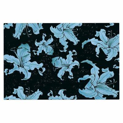 Blue Lilies Doormat