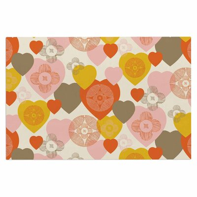 Retro Hearts Design Doormat