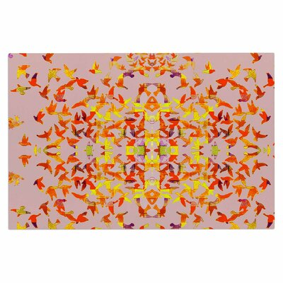 Flying Birds Doormat Color: Pink