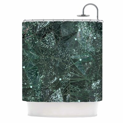 Aventurine Space Digital Shower Curtain