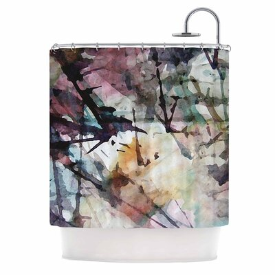 Abstract Trees Painting Shower Curtain