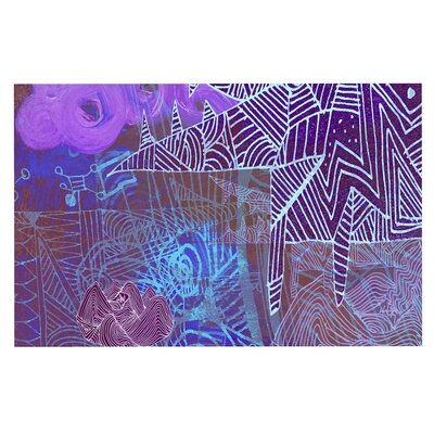 Abstract with Wolf Doormat