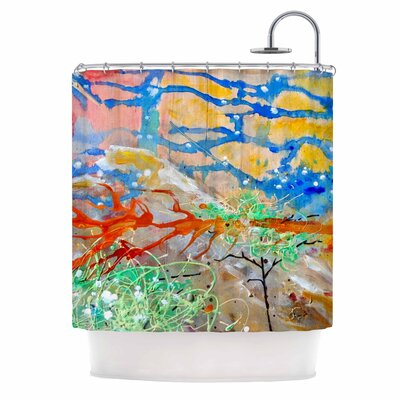 The Earth Shows Its End Shower Curtain