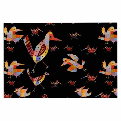 Birds on Black Doormat