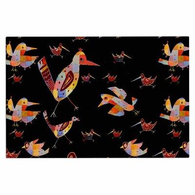Birds on Black Doormat