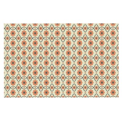 Floral Doormat Color: Peach/Orange