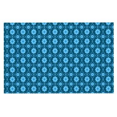 Floral Doormat Color: Blue/Aqua