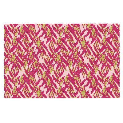 Abstract Print Pink Doormat