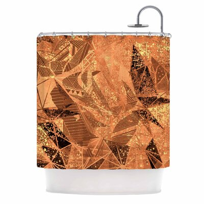 Geometry of Fire Mixed Media Shower Curtain