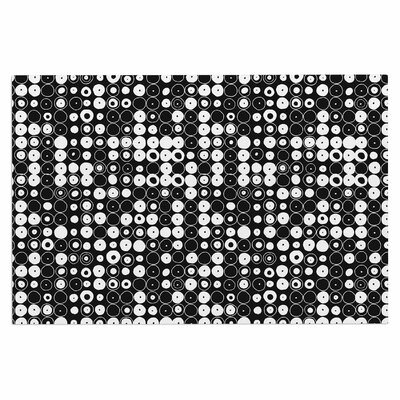 White & Black Funny Polka Dots Doormat