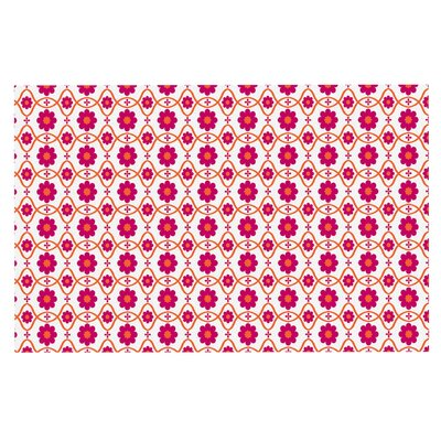 Floral Doormat Color: Pink/Magenta