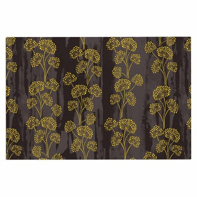 Textured Floral Elegance Doormat