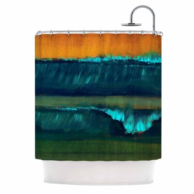 Orange Leaf Tea Shower Curtain