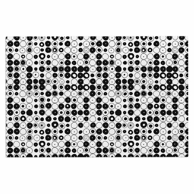 Black & White Funny Polka Dots Doormat