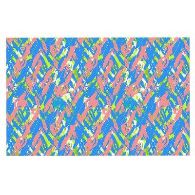 Abstract Print Blue Doormat