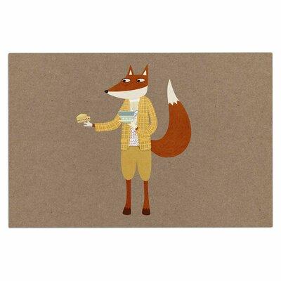 Mr Fox Takes Tea Doormat