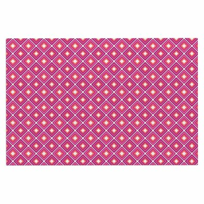 Bright Squares Doormat Color: Pink