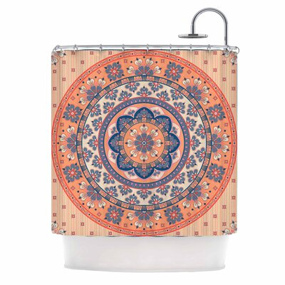 Mandala Magic Digital Ethnic Shower Curtain