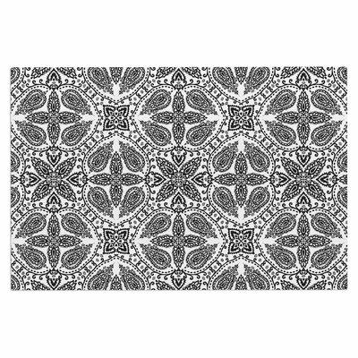Boho Doormat Color: Black/White