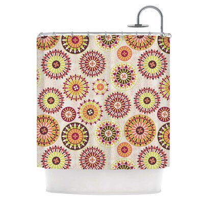 Mandala Floral Shower Curtain