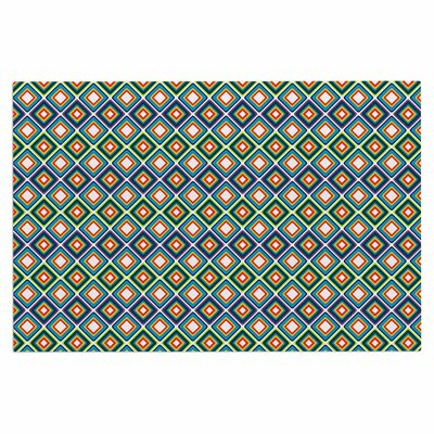 Bright Squares Doormat Color: Blue/Green