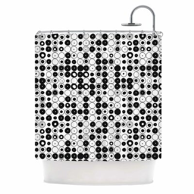Black & White Funny Polka Dots Shower Curtain