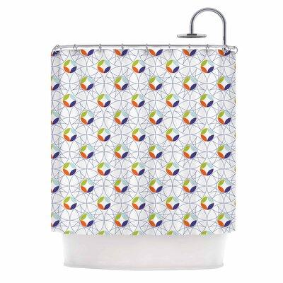 Simple Medallions Digital Shower Curtain