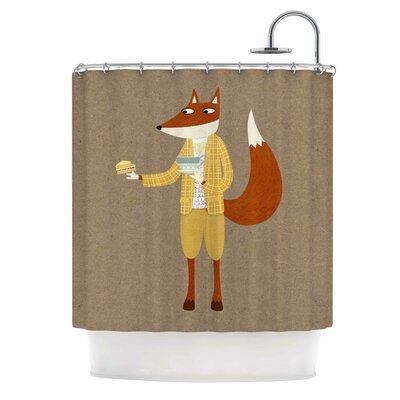 Mr Fox Takes Tea Shower Curtain