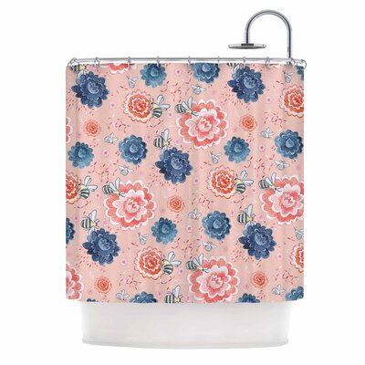 Bees Please Shower Curtain