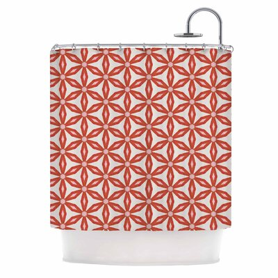 Stars in Circles Shower Curtain