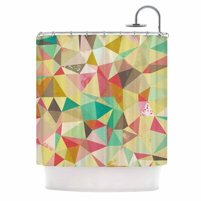 Shards Digital Shower Curtain