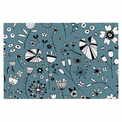 Etched Flowers Doormat