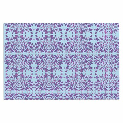 Blue Purple Bloom Doormat