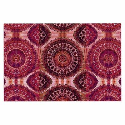Magenta Mandala Stripe Doormat